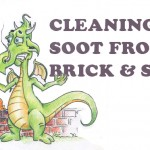 clean soot from brick or stone