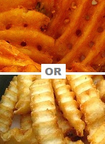 Make waffle or crinkle cut french fries