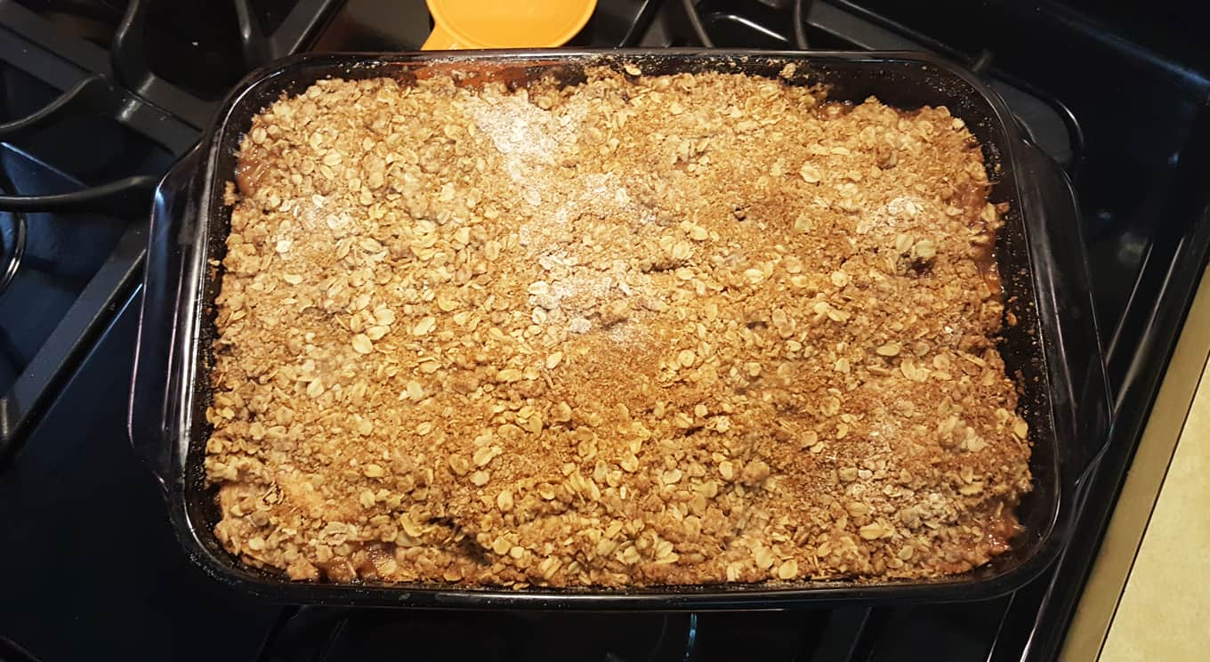 remove from oven when golden brown and bubbly | apple crisp recipe